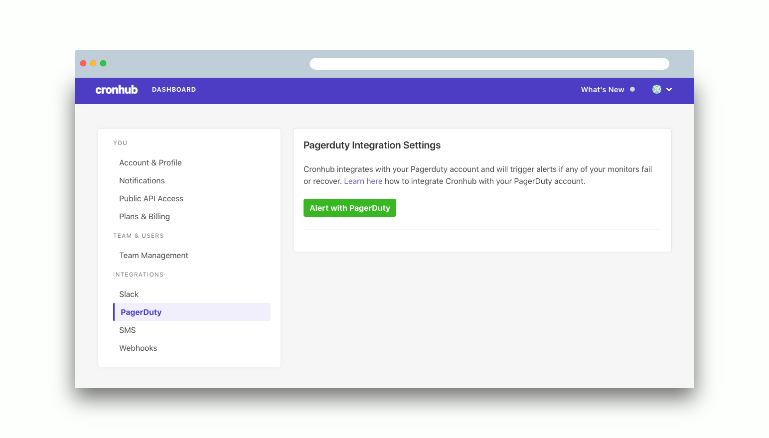 Alert with PagerDuty